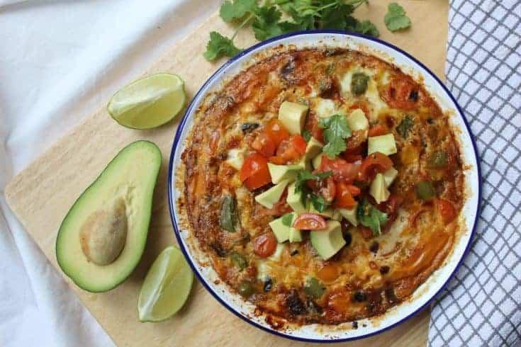Gluten free Mexican frittata recipe