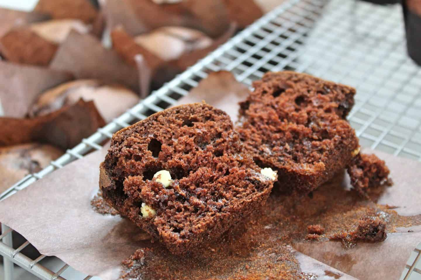gluten free triple chocolate muffins recipe