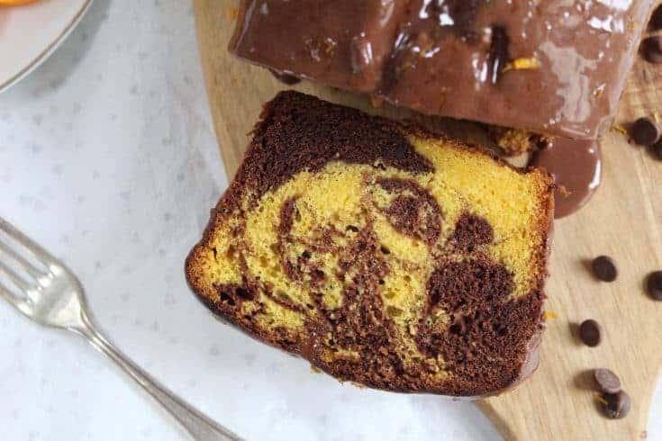 Gluten free chocolate orange marble cake