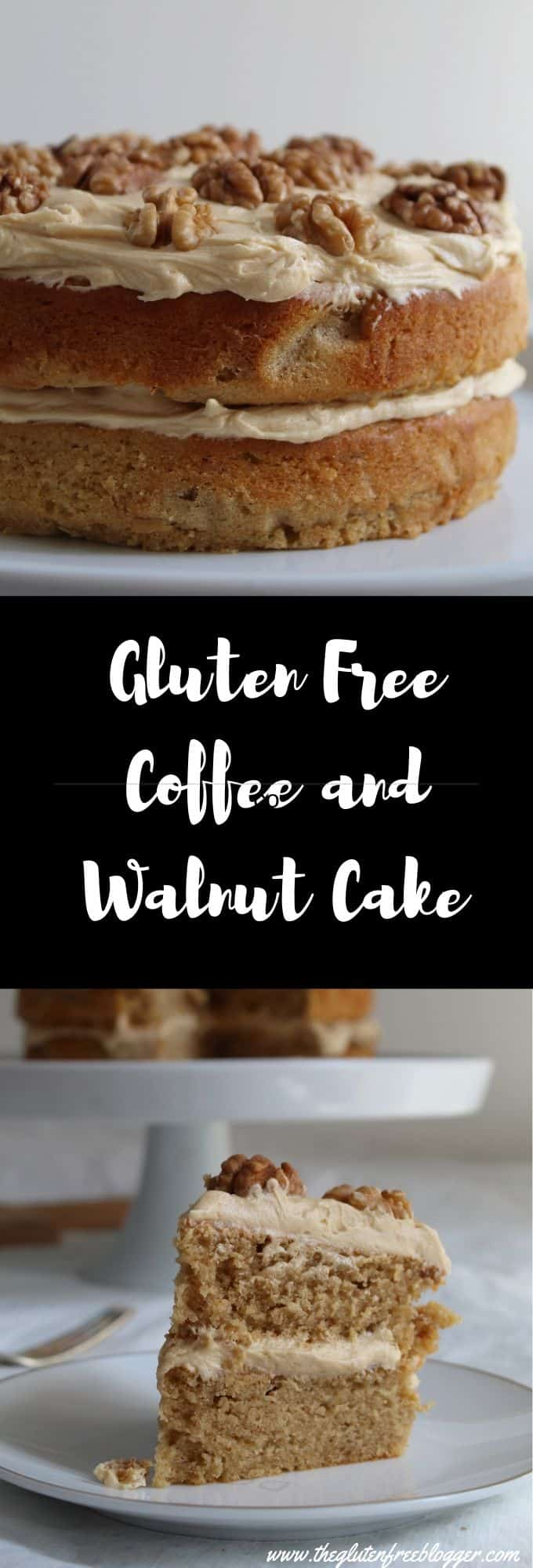GLUTEN FREE COFFEE AND WALNUT CAKE RECIPE WITH BUTTERMILK - easy gluten free bakes - baking - coffee cake - coeliac recipe