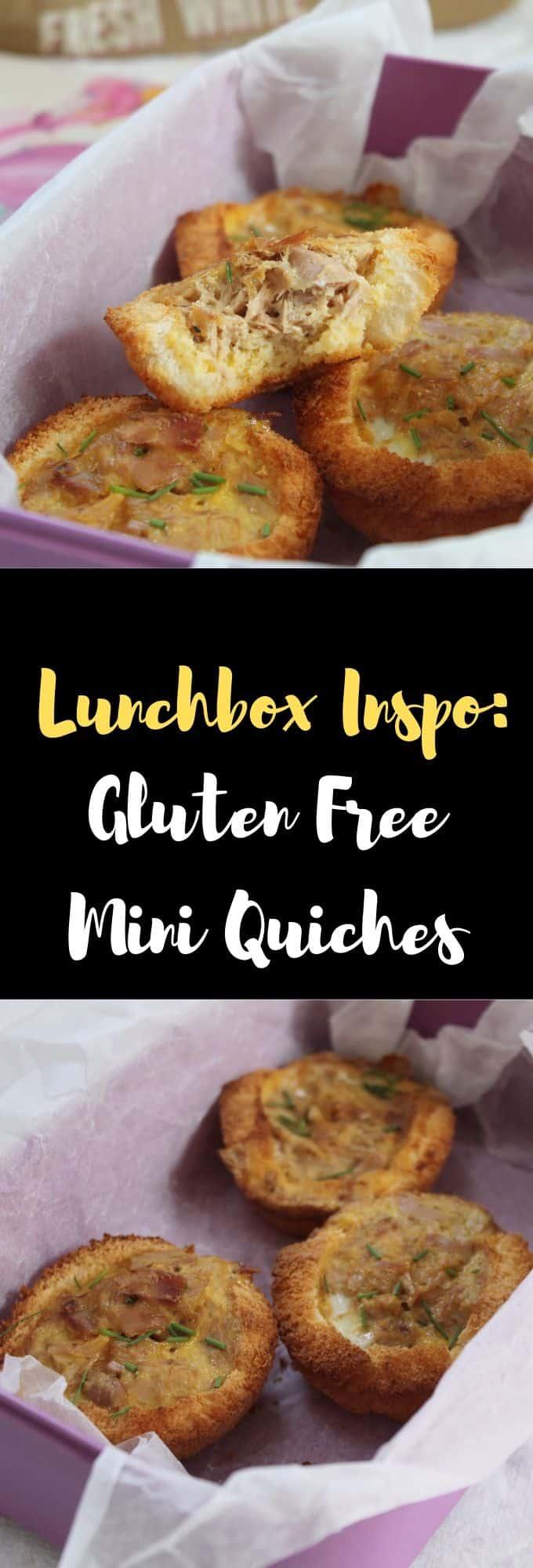 gluten free lunchbox ideas - gluten free children, coeliac children, lunch ideas for kids mini quiches