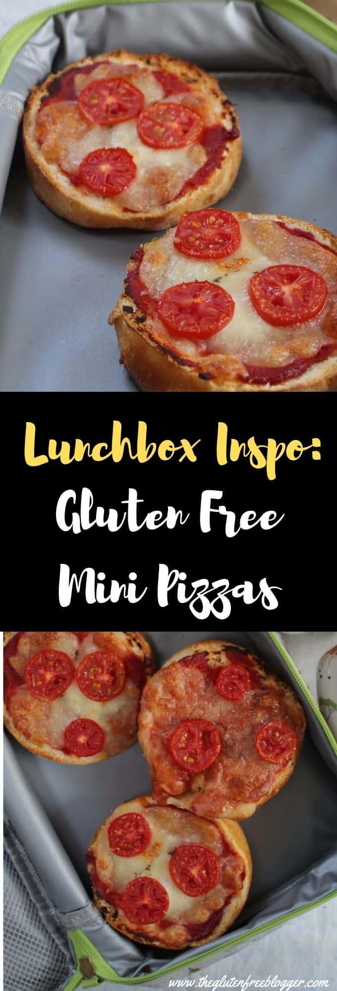 gluten free lunchbox ideas - gluten free children, coeliac children, lunch ideas for kids mini pizzas