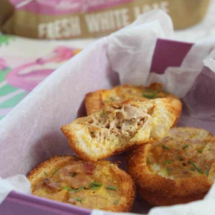 Gluten free mini tuna quiches