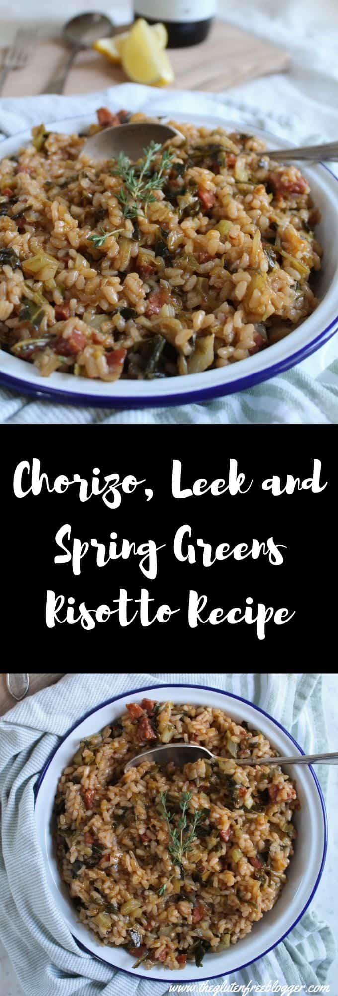 gluten free chorizo leek and spring greens risotto recipe easy one pot meal dinner ideas coeliac