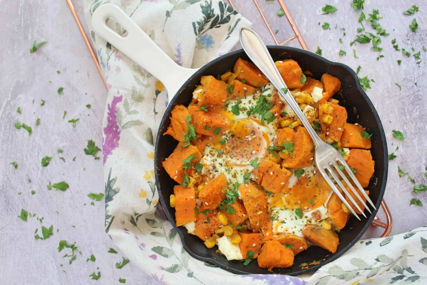 GLUTEN FREE FETA AND SWEET POTATO HASH RECIPE 22