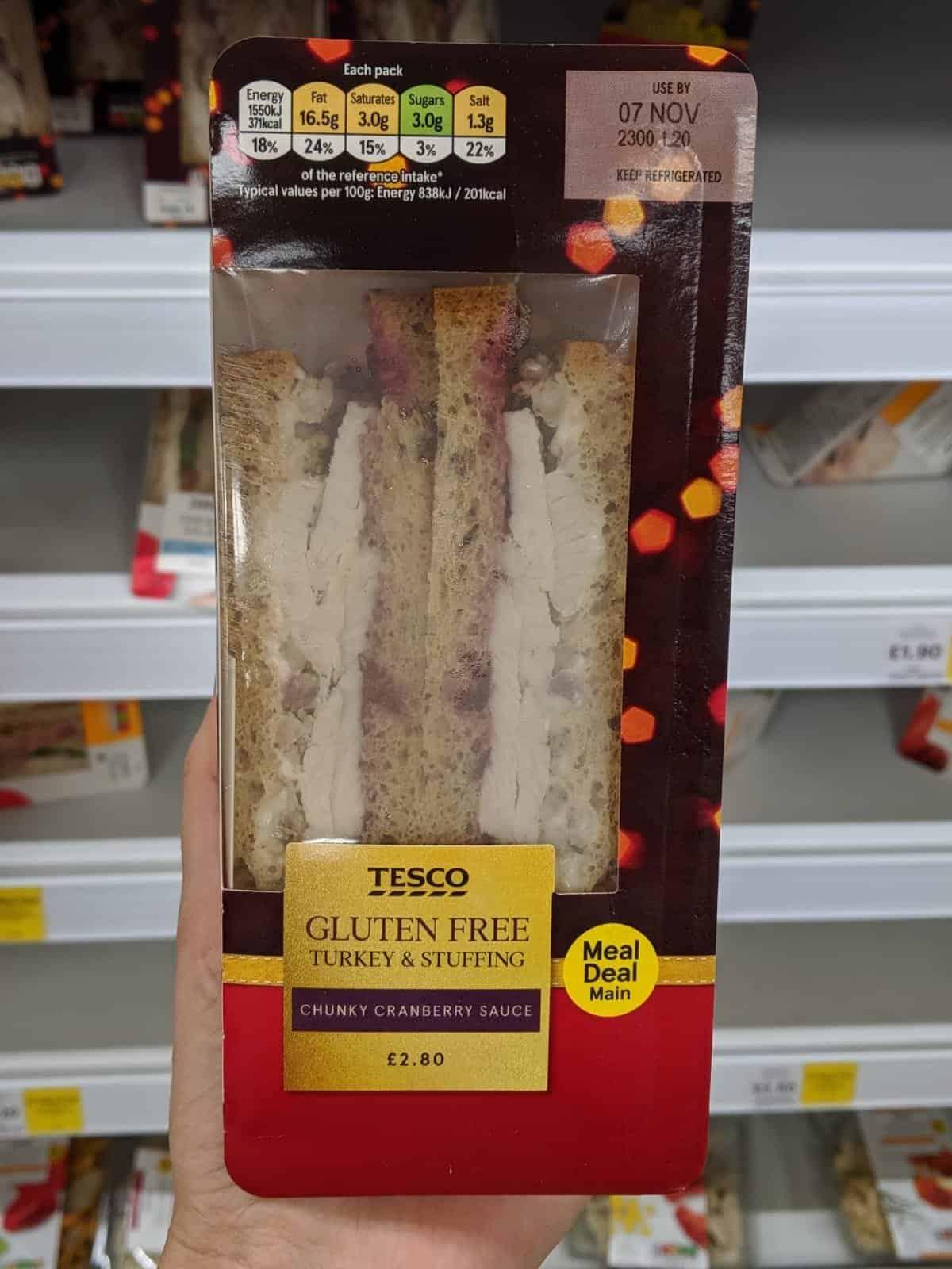 gluten free tesco christmas sandwich