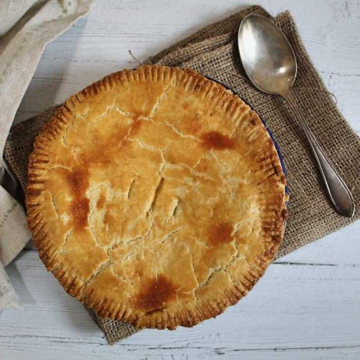 Gluten free chicken and ham pie