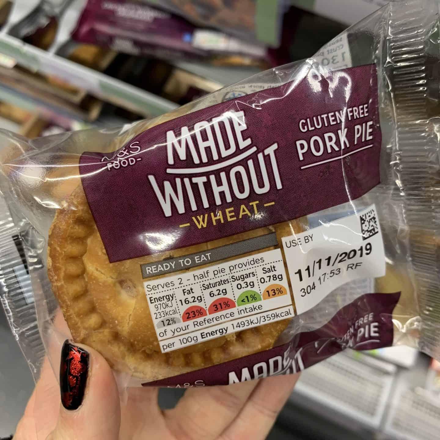 gluten free pork pie m&s