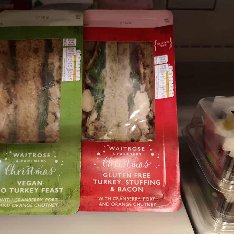 gluten free christmas sandwich waitrose