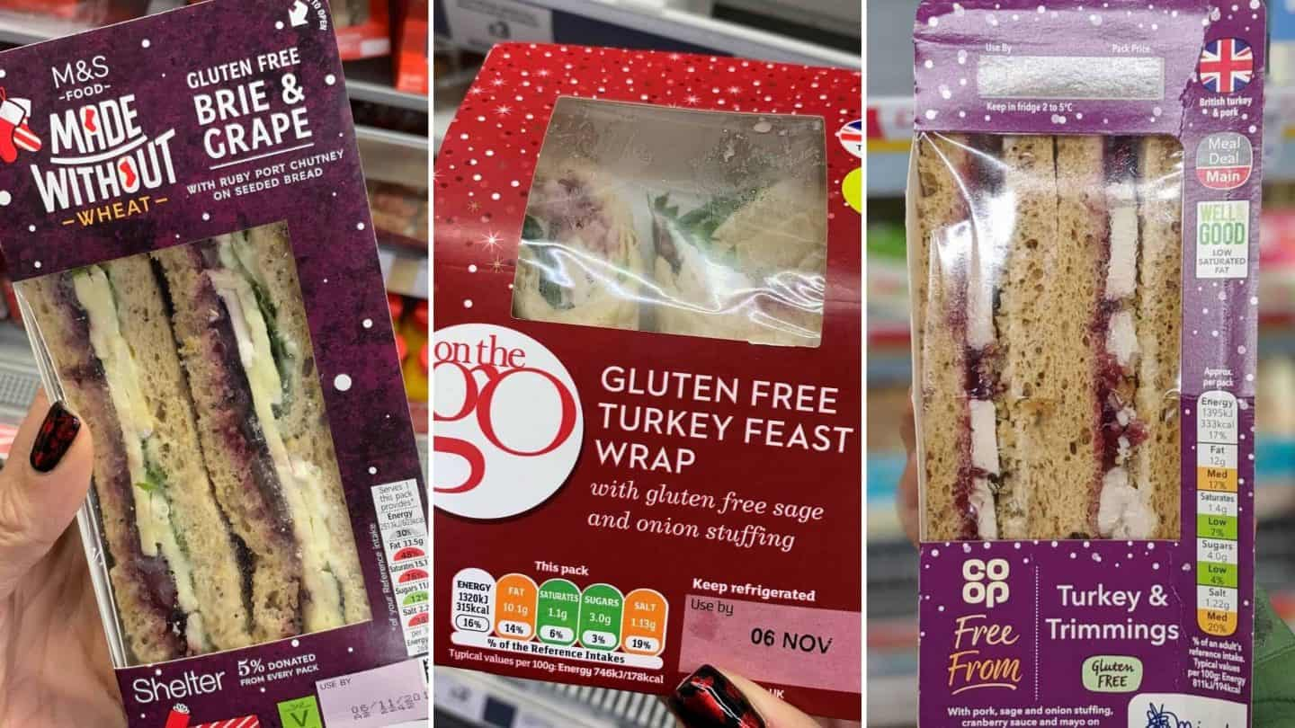 gluten free christmas sandwiches