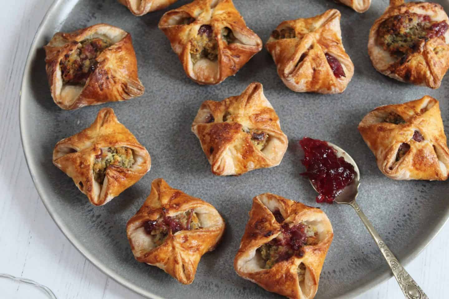gluten free turkey and cranberry parcels