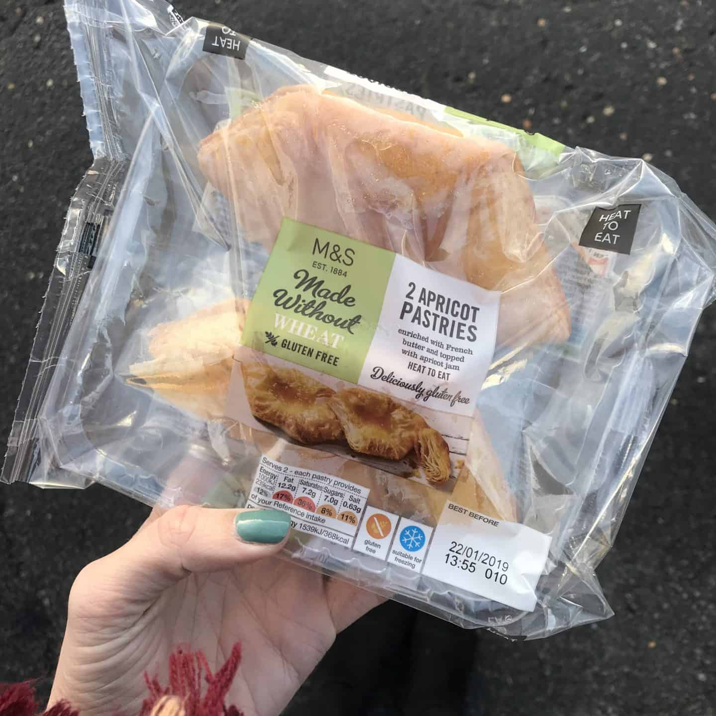 M&S gluten free apricot pastries