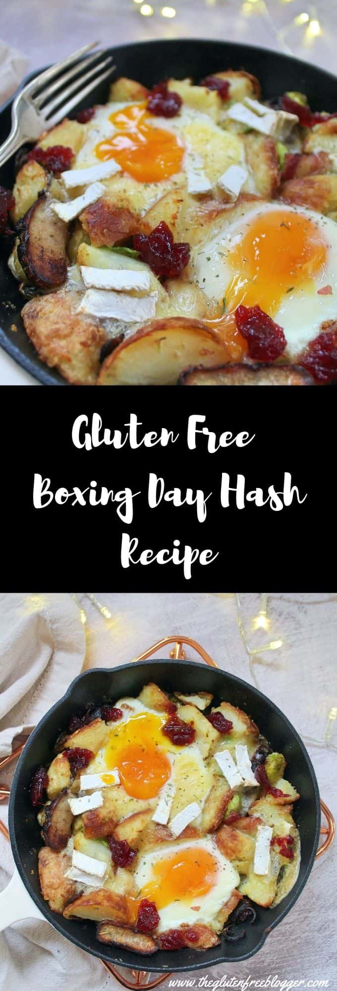 gluten free Boxing Day hash recipe - Christmas dinner leftovers recipe reducing food waste