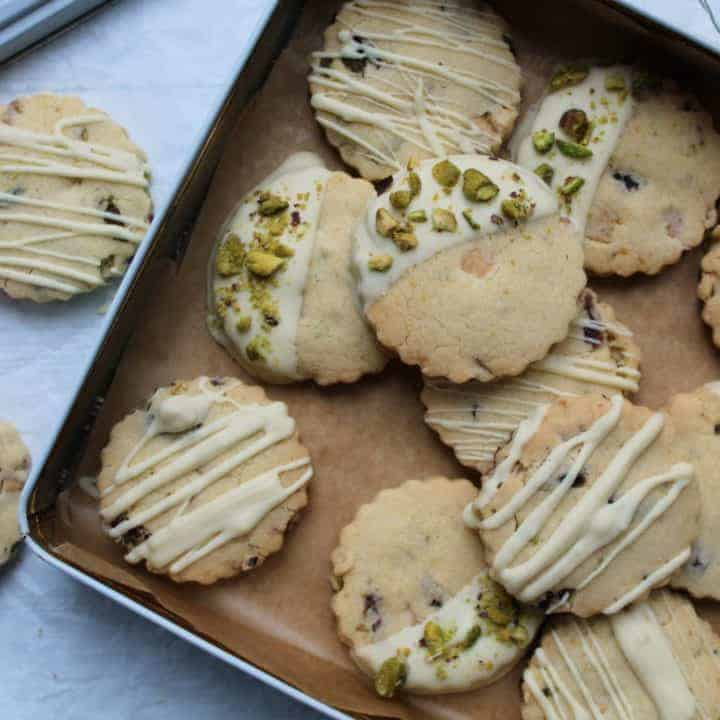 gluten free shortbread recipe with white chocolate pistachio cranberry 64