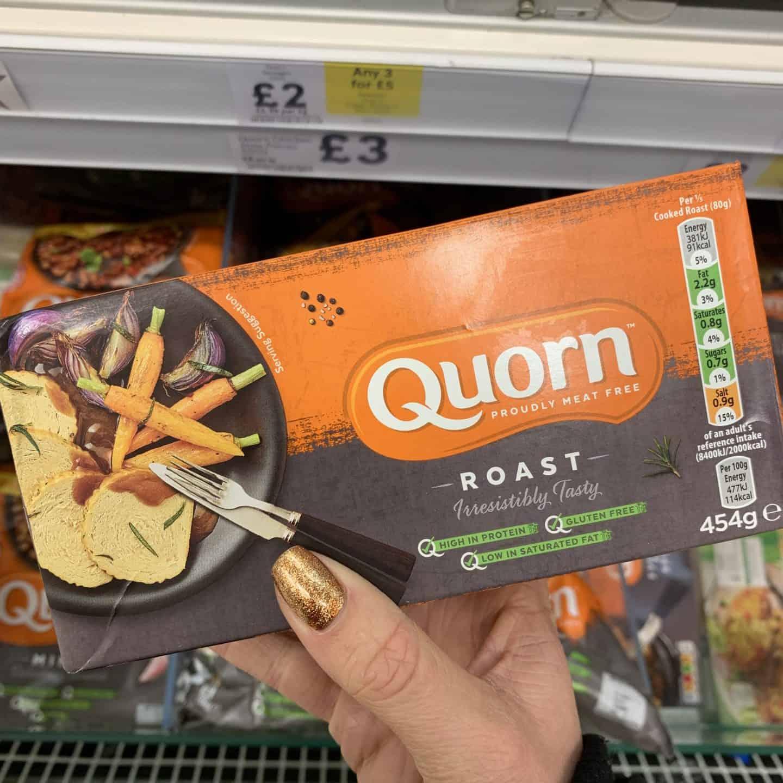 gluten free vegetarian christmas food quorn roast