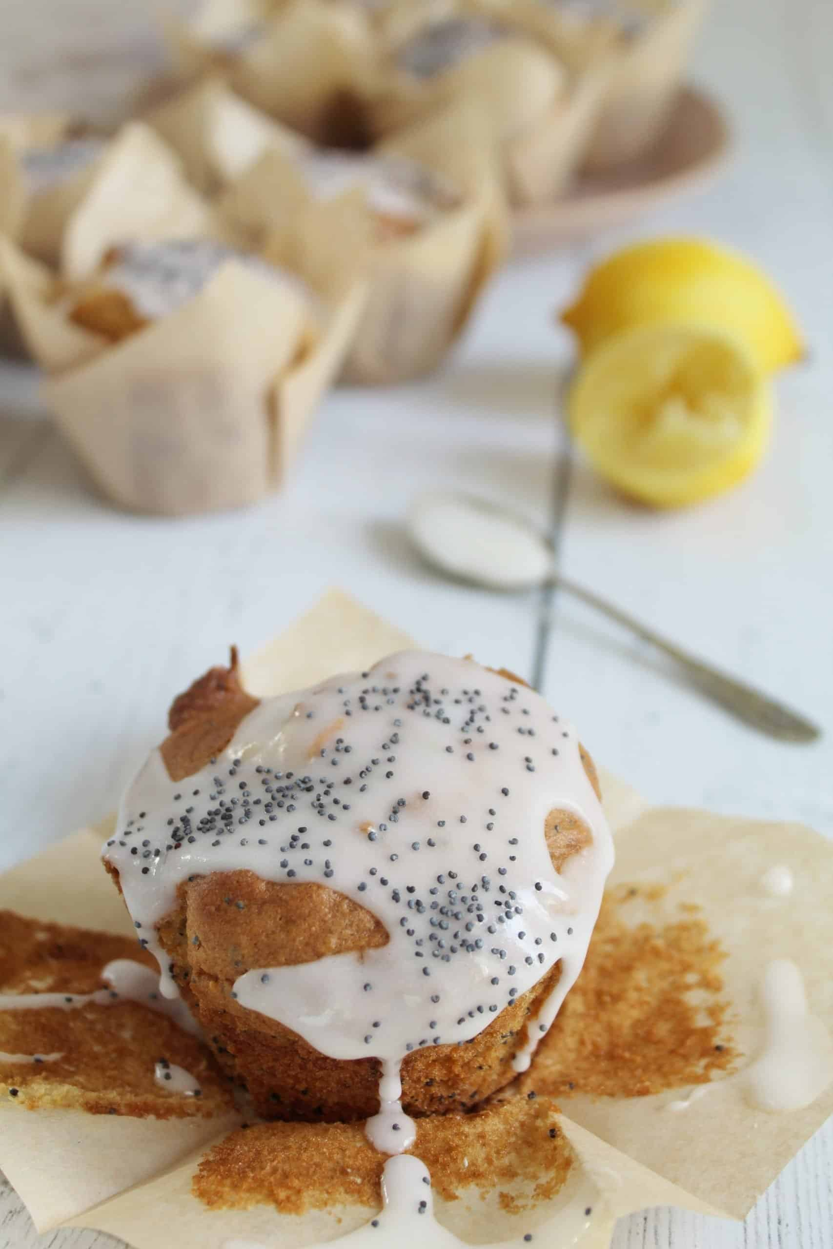 GLUTEN FREE LEMON AND POPPYSEED MUFFINS