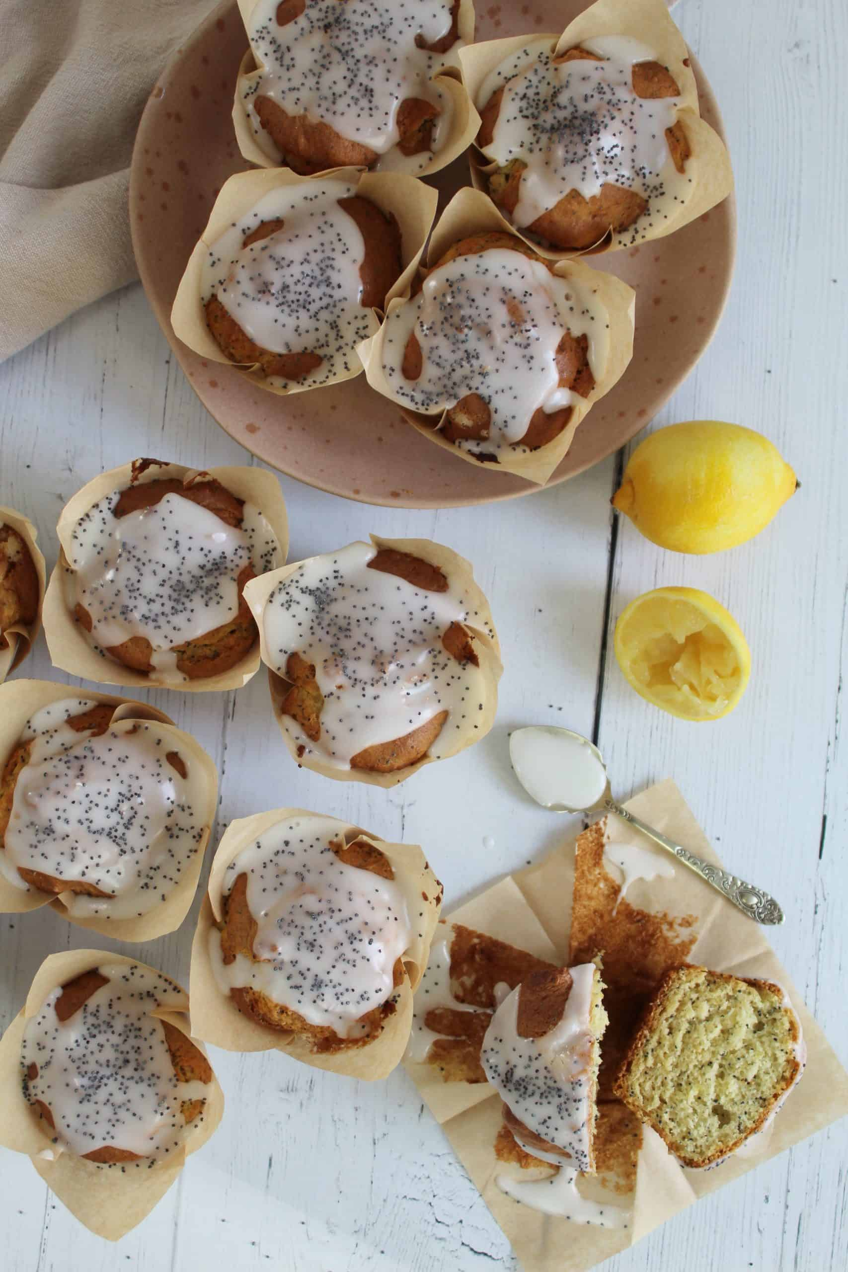 GLUTEN FREE LEMON AND POPPYSEED MUFFINS 26