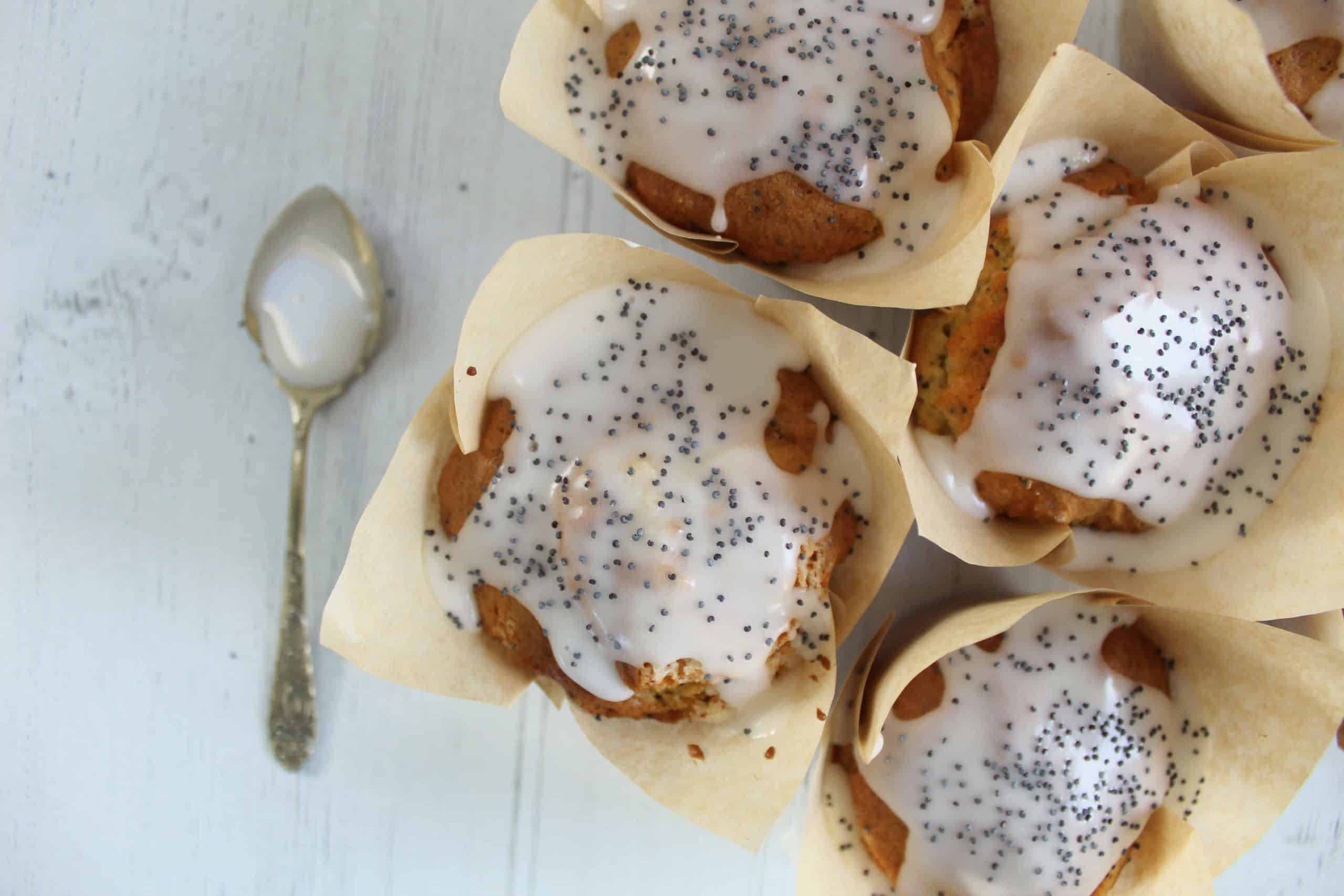 GLUTEN FREE LEMON AND POPPYSEED MUFFINS 70