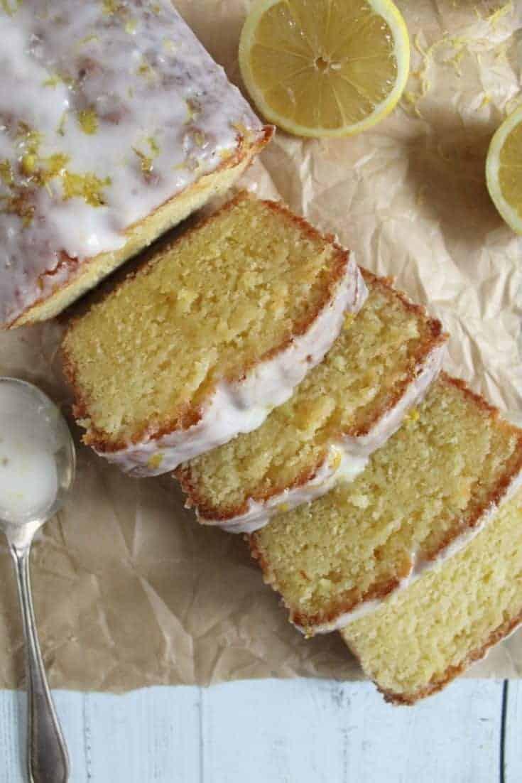 Gluten free lemon drizzle cake