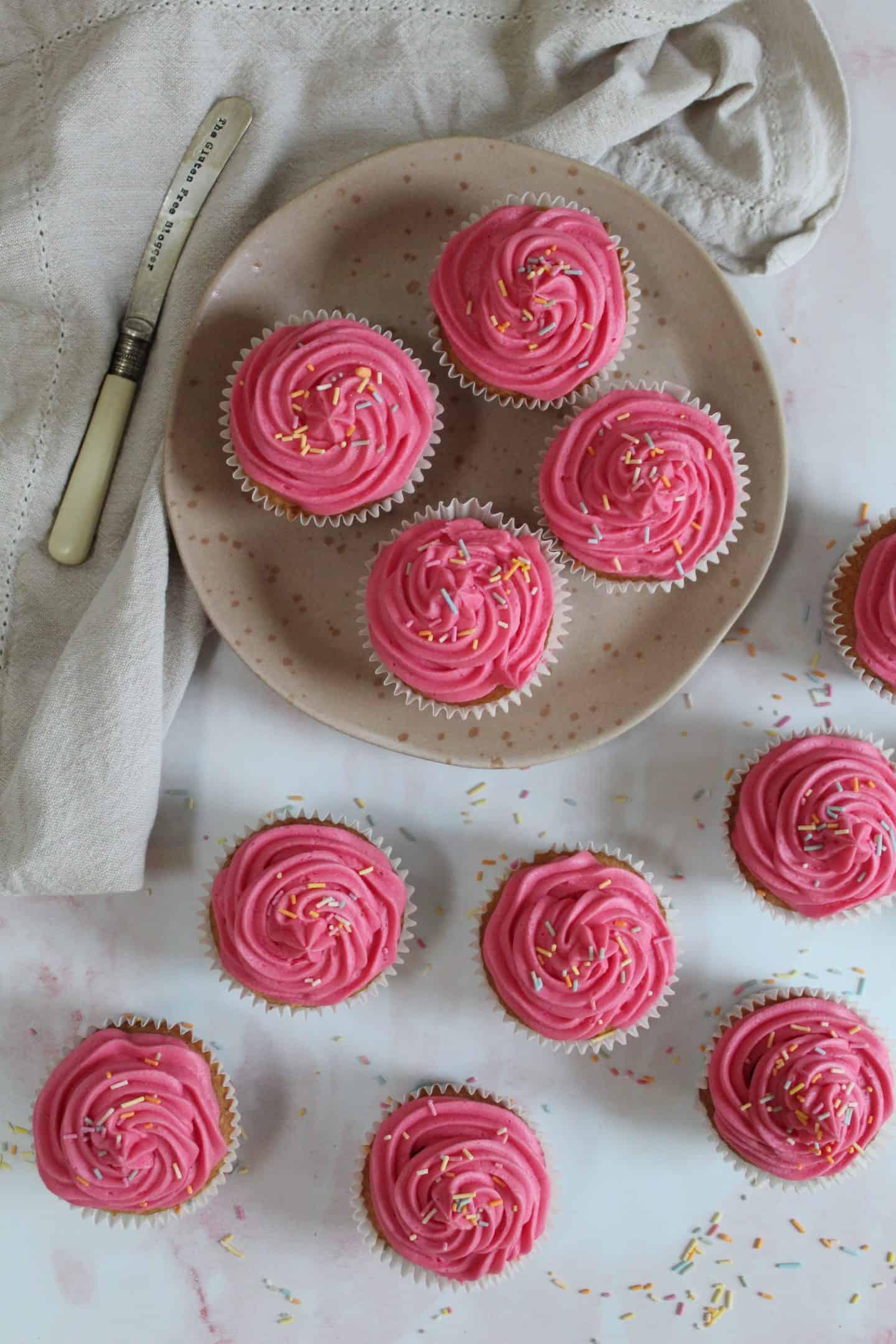 basic gluten free cupcake recipe vanilla buttercream frosting