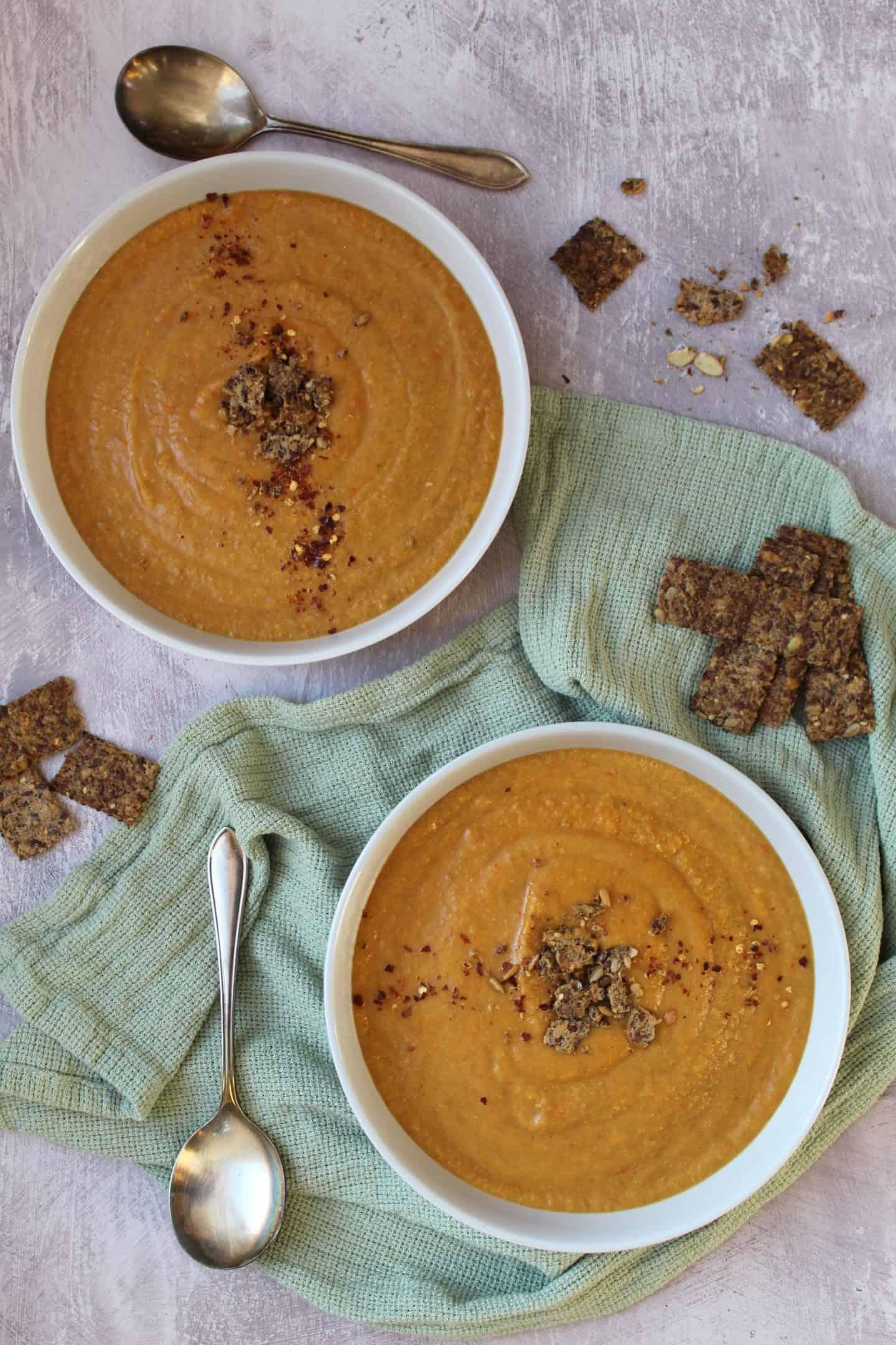 gluten free vegan carrot and lentil soup recipe
