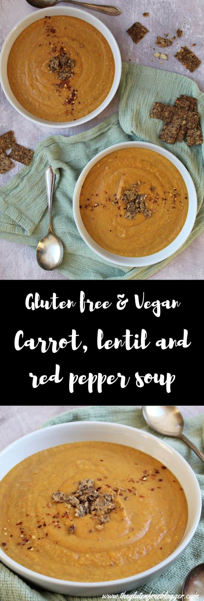 gluten free vegan carrot lentil and red pepper soup dairy free vegetarian lunch ideas
