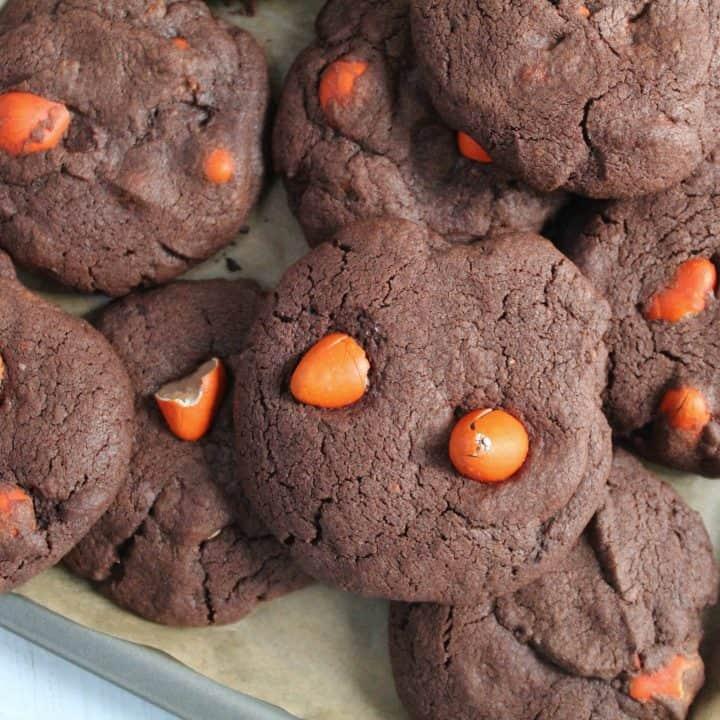 Gluten Free Chocolate Orange Mini Egg Cookies