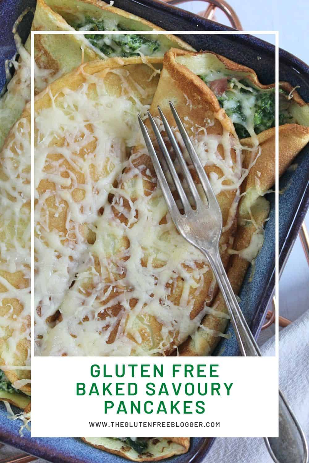gluten free baked pancakes with ham cheese and spinach crepes recipe (1)