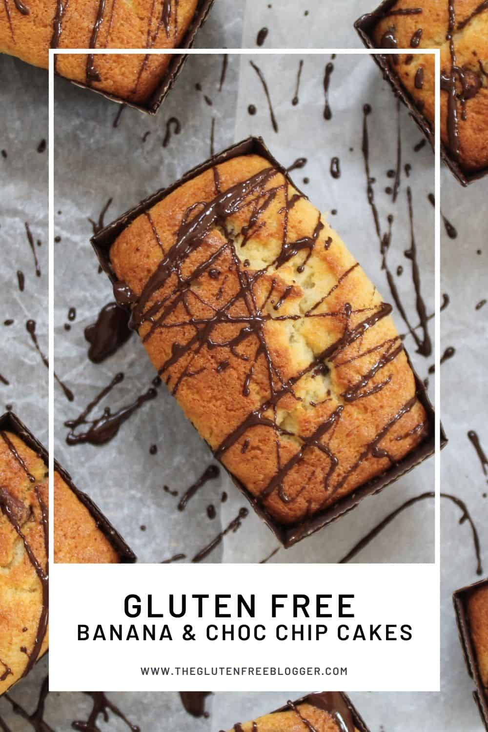 gluten free banana and chocolate chip mini loaf cakes baking coeliac
