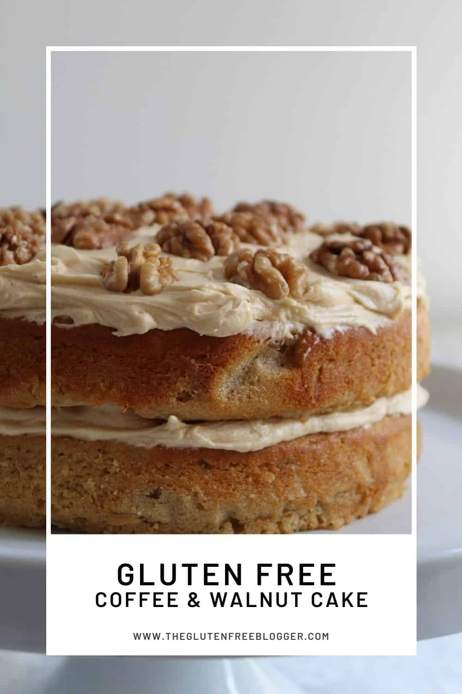 gluten free coffee and walnut cake recipe baking coeliac