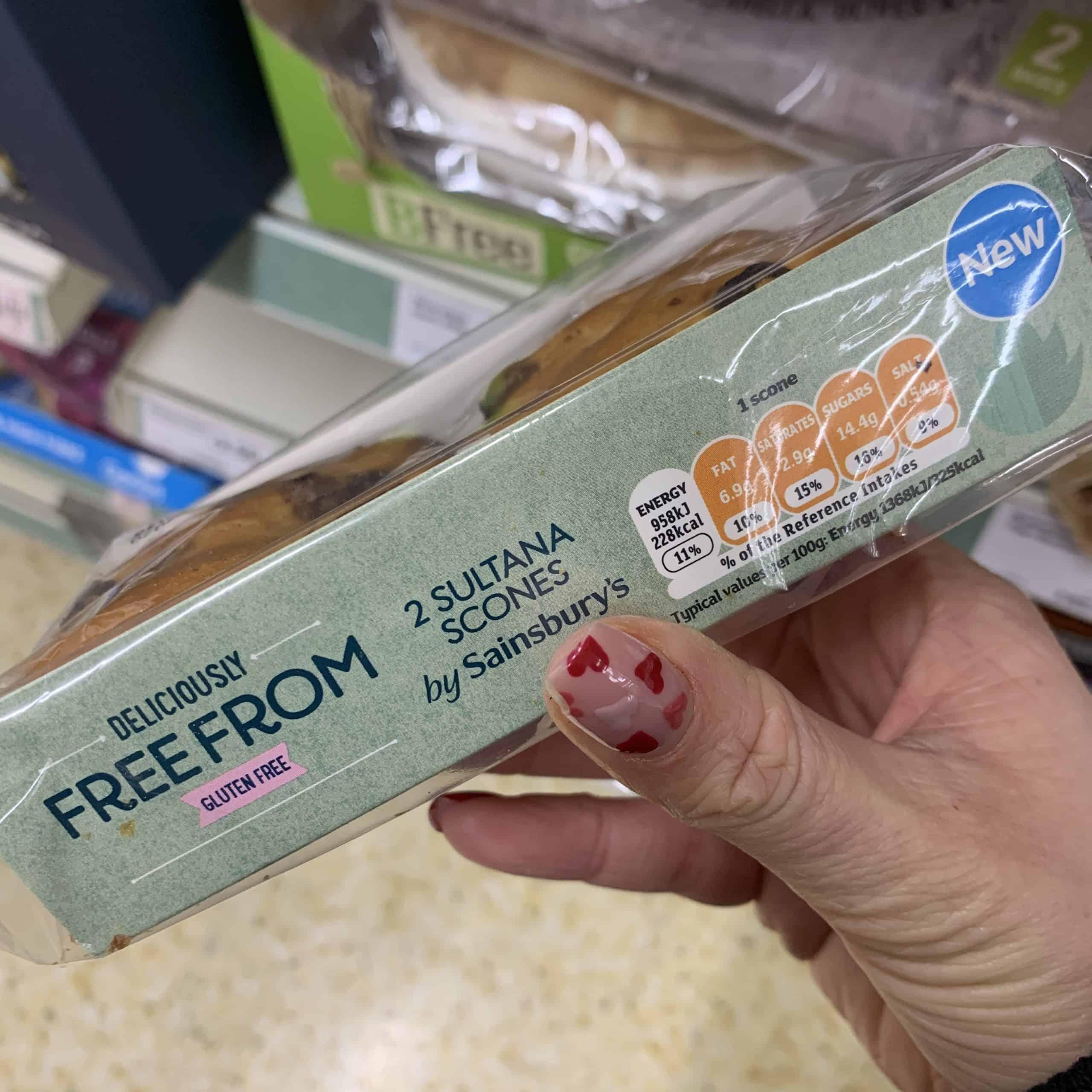 gluten free fruit scones sainsburys