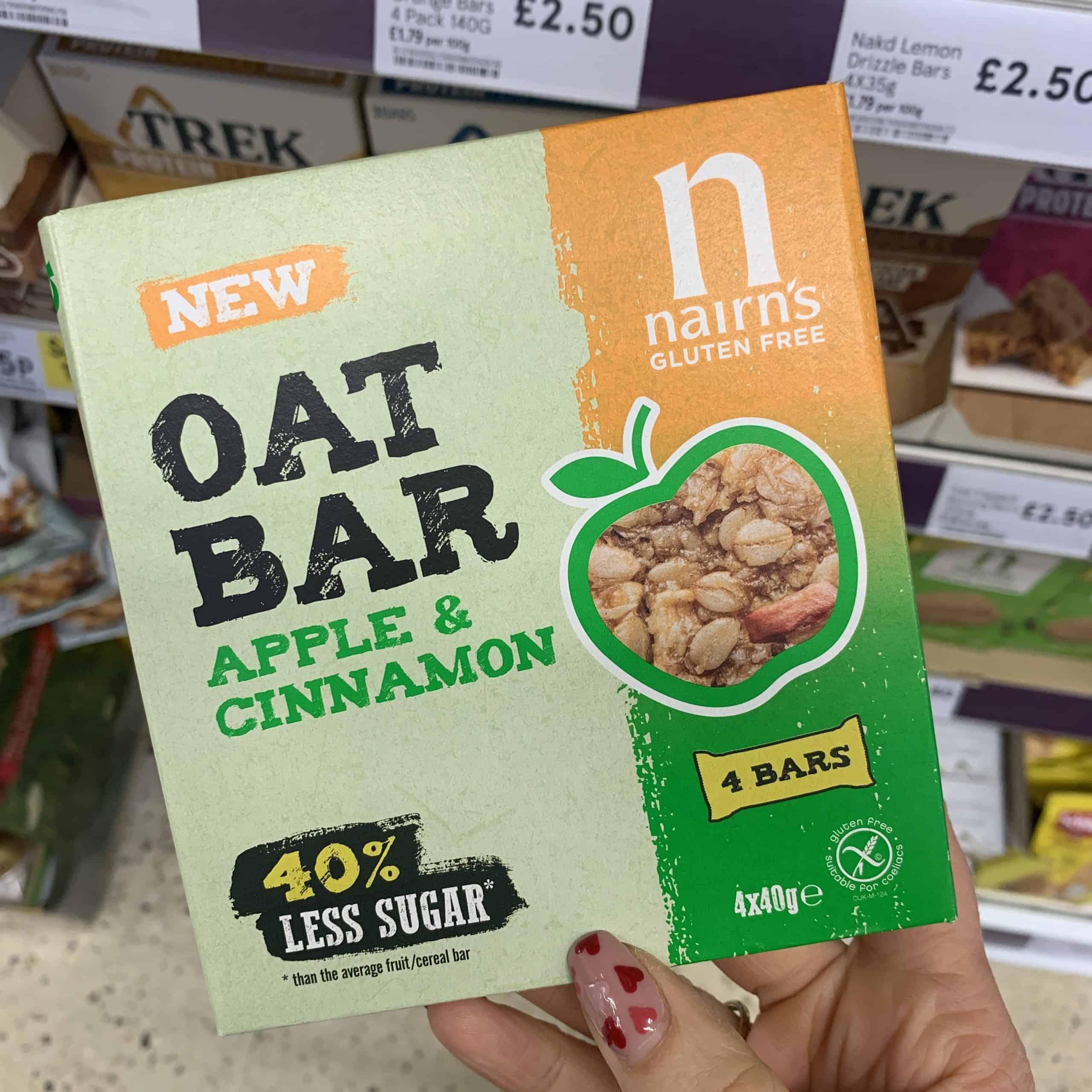nairn's apple and cinnamon oat bar