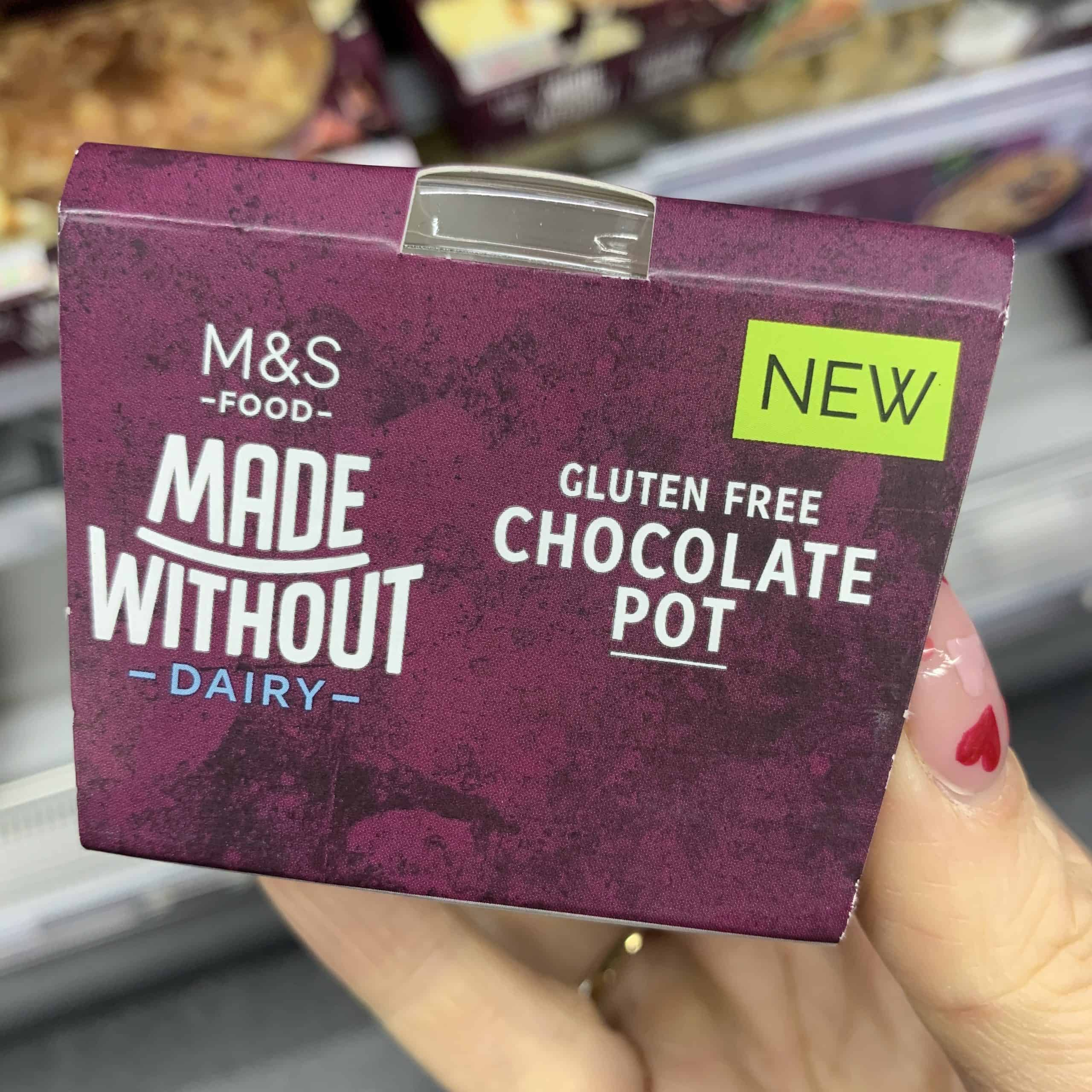 m&S made without dairy gluten free chocolate pot