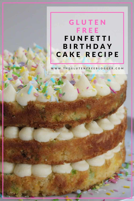 gluten free funfetti cake recipe birthday cake vanilla buttercream frosting