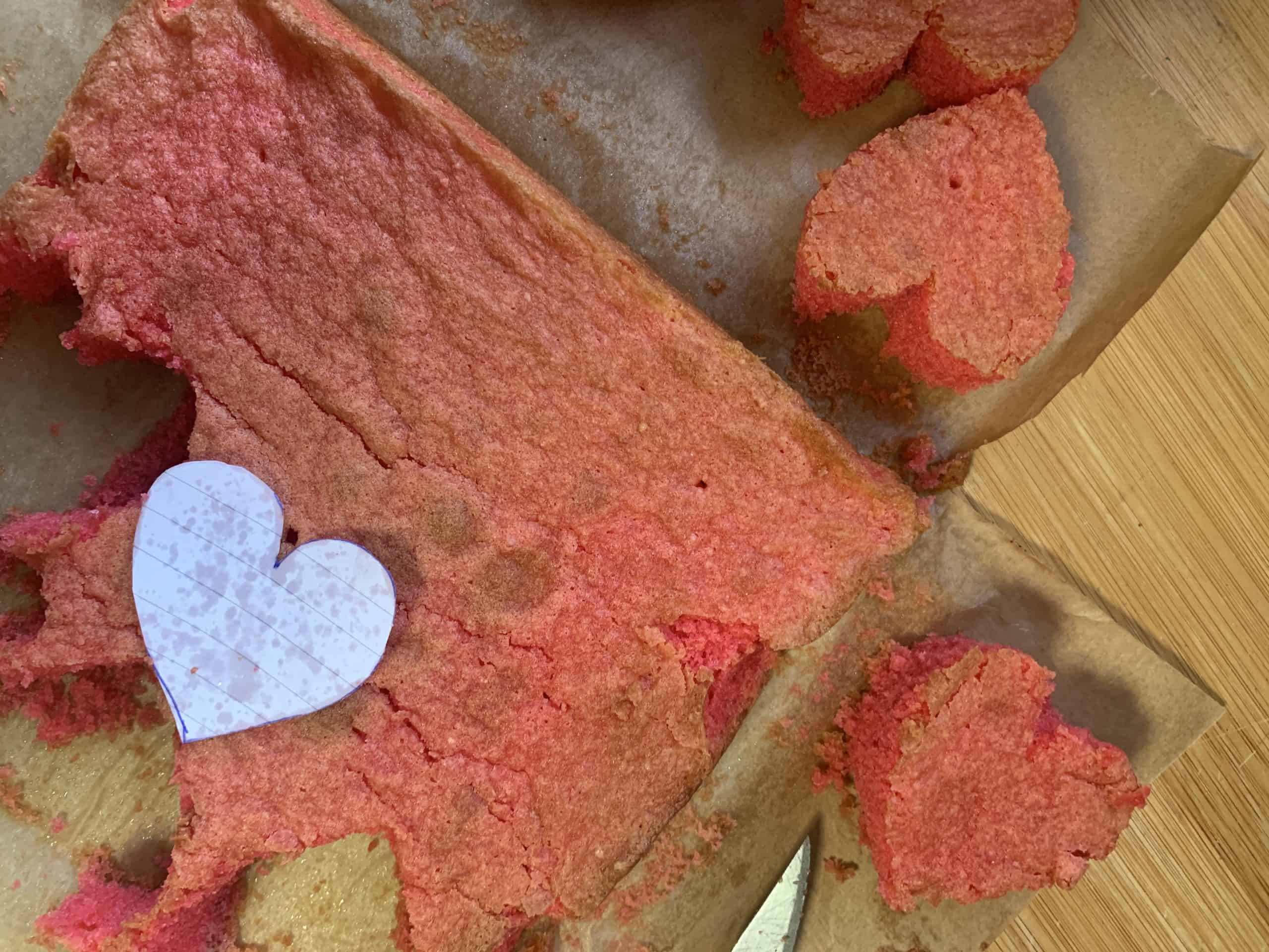 gluten free hidden heart cake recipe step by step guide 1