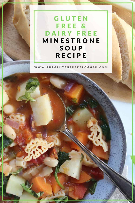 gluten free minestrone soup recipe dairy free lunch ideas coeliac celiac healthy recipe meal prep
