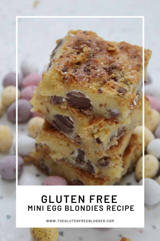 gluten free mini egg blondies recipe easter baking cakes baking coeliac