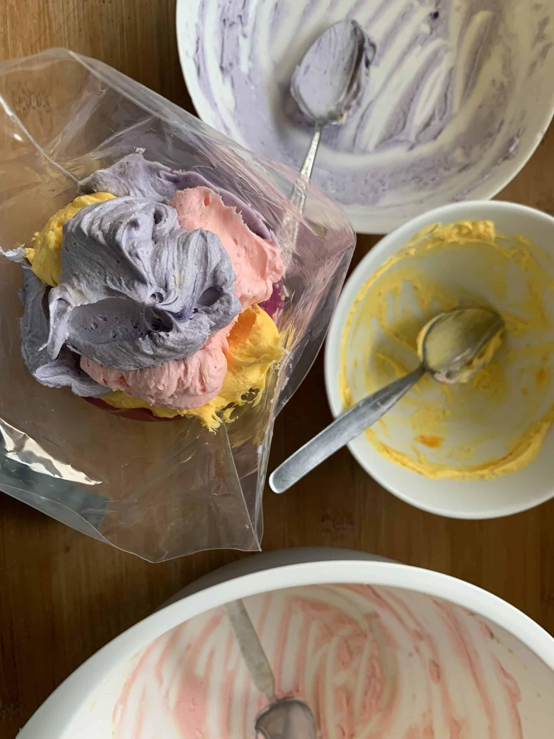 gluten free mini egg cupcake icing 4