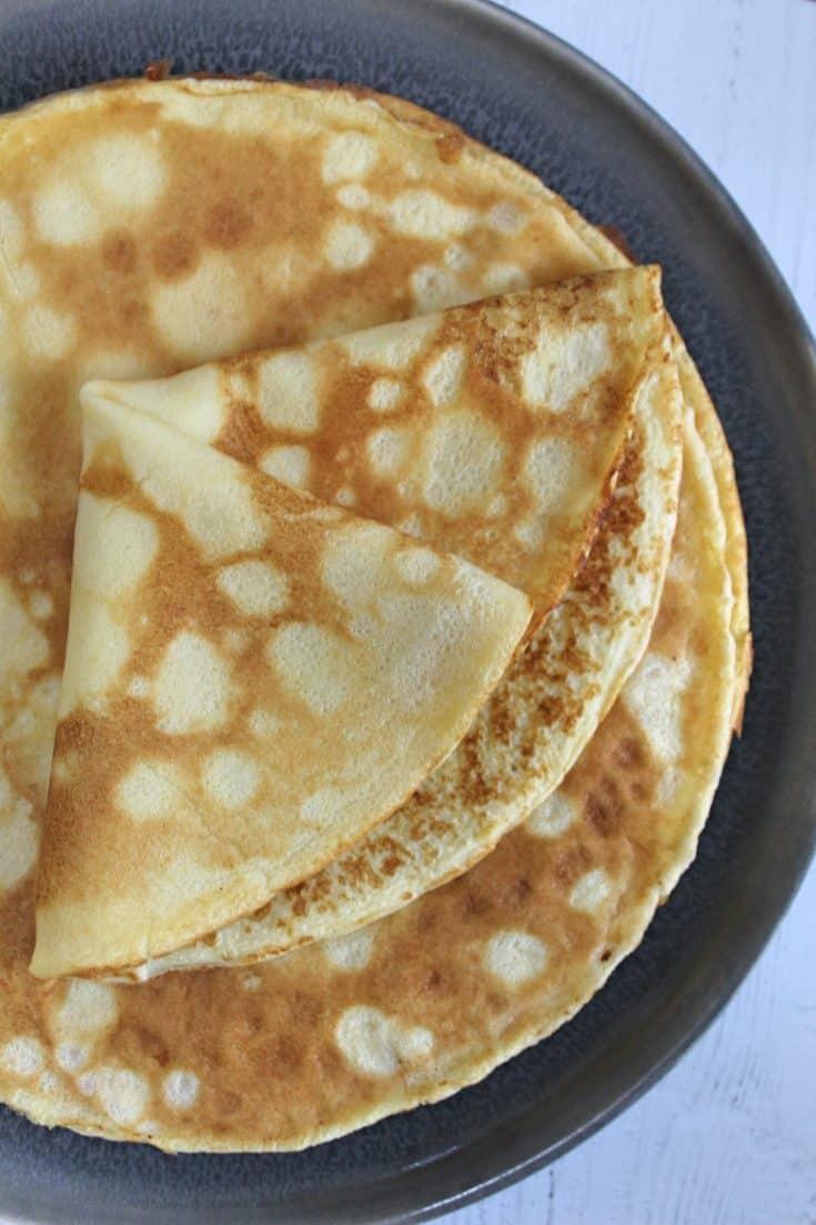 Gluten free pancake recipe (crêpe-style)