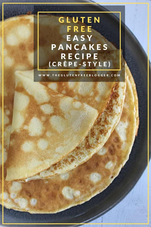best gluten free pancake recipe easy crepe style