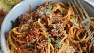 Gluten free spaghetti bolognese recipe