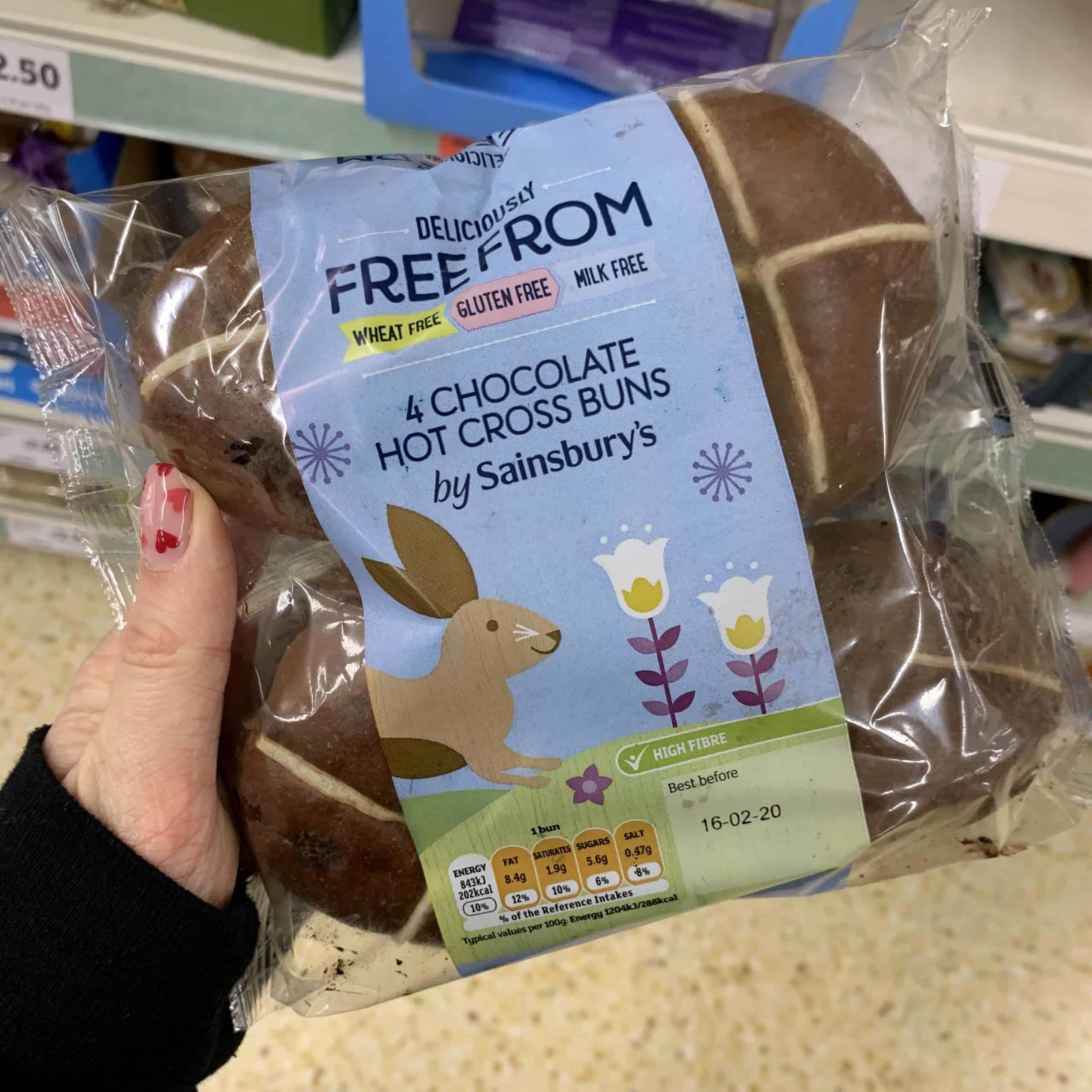 sainsburys gluten free chocolate hot cross buns