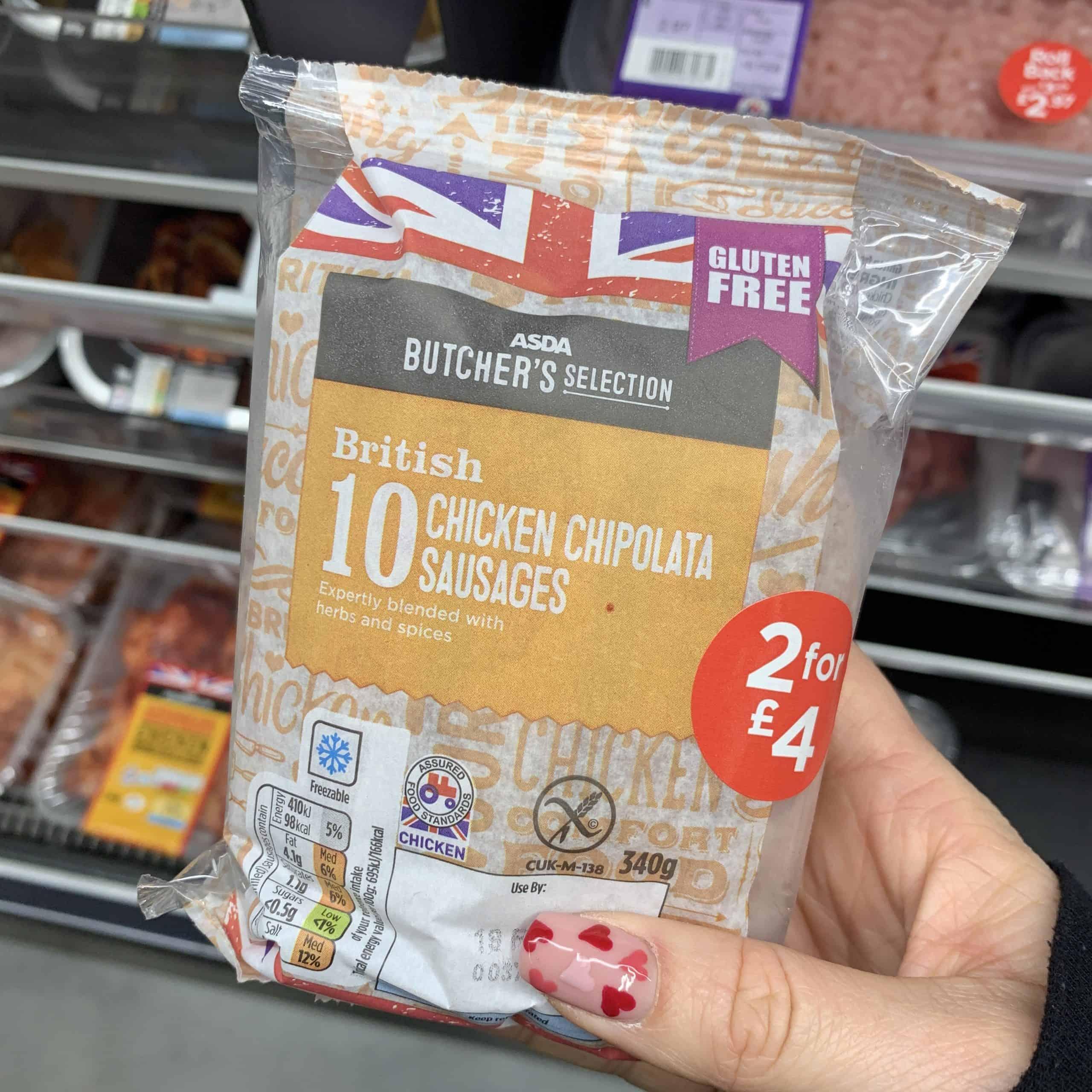 asda chicken sausages