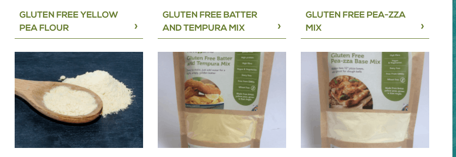 novo farina gluten free pea flour