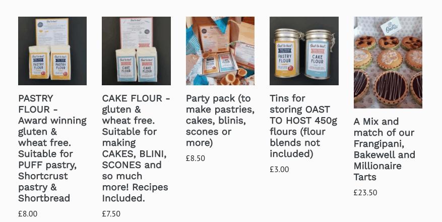 oast to host gluten free flour mixes