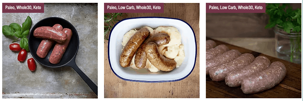 primal cut gluten free sausages