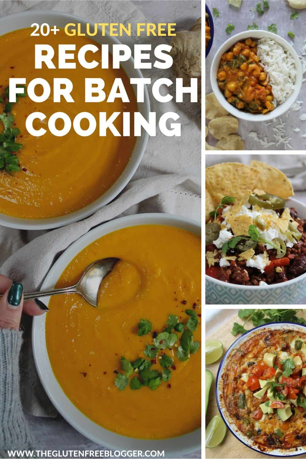 gluten free batch cooking meal prep recipes dinner ideas slow cooker soup easy freezer dinner