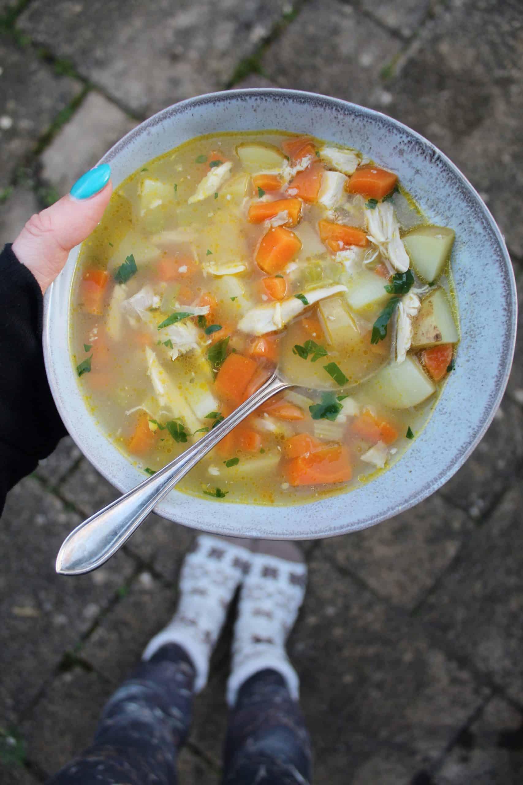 gluten free chicken soup recipe from roast chicken leftovers 8