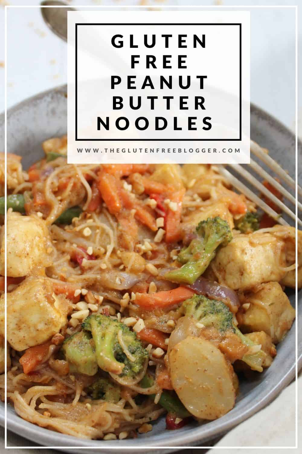 gluten free peanut butter noodles dinner ideas easy gluten free meals dairy free coeliac friendly