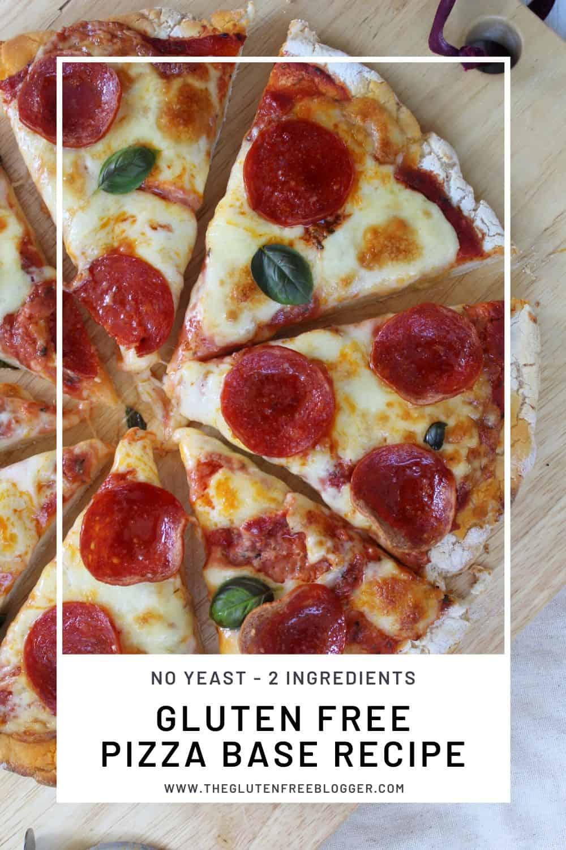EASY 2 INGREDIENT GLUTEN FREE PIZZA BASE RECIPE DEEP PAN THIN CRUST BAKE (1)